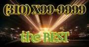 310 Easy Phone Number 310 X99-9999 Gold Plated Los Angeles California The Best