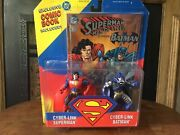 Superman Man Of Steel Starring Batman Action Figures And Comic Book By Kenner