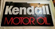 Vintage Kendall Motor Oil Advertisng Double-sided Painted Heavy Steel Sign 24x14