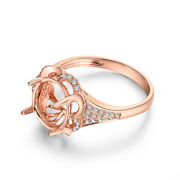 Worth Semi Mount Ring Oval Cut 11x9mm Solid 18k Rose Gold Si/h Diamond 0.2ct
