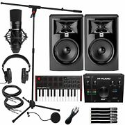 Home Recording Pack Air192x4 Pro Interface W 305p Mkii Speakers And Mpk Mini Mk3