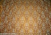 Stroheim And Romann Chatelet Embroidered Silk Fabric 9.5 Yards Bronze Brown Gold