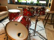 Dw Collectorand039s Series 4pc Shell Kit - Super Tangerine Glass-includes Stand/cases