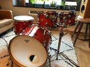Dw Collector's Series 4pc Shell Kit - Super Tangerine Glass-includes Stand/cases