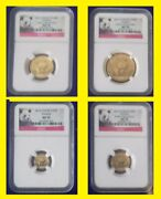 2012 China Pure Gold Panda 4 Coins Set Ngc Ms 70 Early Release Panda Label