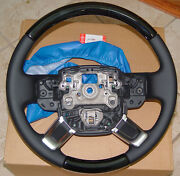 Range Rover And Sport L405 And L494 Grand Black Wood And Leather Heated Steering Wheel