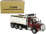 Kenworth T880 Sbfa Dump Truck Red And Chrome 150 Model By Diecast Masters 71059