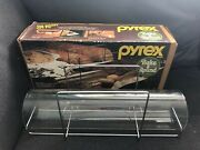 Vintage Pyrex Bake A Round By Corning W/ Box 990 Nos Opened Glass Tube Rack