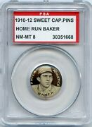 1910-12 Sweet Caporal Pins P2 Home Run Baker Psa 8 Nm/mt Additional Ship Free