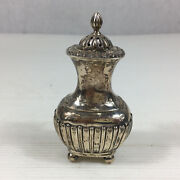 Antique 1902 James Deakin And Sons Solid Silver Pepperette Pepper Shaker 9cm High