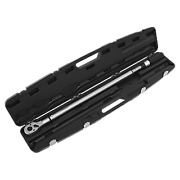 Sealey Black Torque Wrench Micrometer Style 3/4 100-600nm Calibrated + Case