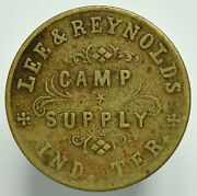 1880and039s One Dollar Indian Territory Oklahoma Camp Supply Post Trader Token