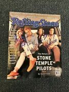 Stone Temple Pilots Signed Rolling Stone By 4 Autographed Auto Bas Not Psa