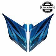 Daytona Blue Airbrush Stretched Extended Side Cover Fits 2014+ Harley Touring