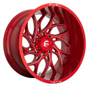 Fuel D742 Runner Rim 20x10 8x165.1 Offset -18 Candy Red Milled Quantity Of 4