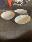 Discontinued Lenox L113 Pale Blue Platinum Coupe Oval And Round Bowls Set Of 3