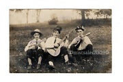 Old Photo Postcard1910 Killer Cancelcarson Station3 Men With Instrumentsrppc