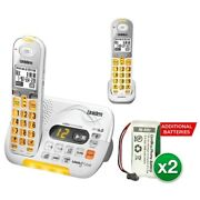 Uniden D3097-2 With Additional Battery Dect 6.0 Amplified Cordless Phone W/ 1