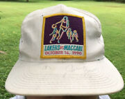 Vintage Los Angles Lakers Vs Maccabi Snapback Hat October 1990 Signed Jerry Buss