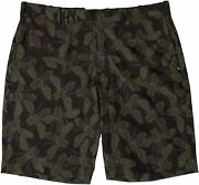 Menand039s Golf Insect Print Performance Casual Shorts Green/grey 36