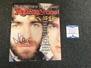 Oasis Signed Rolling Stone Autographed Auto Bas Not Psa Noel And Liam Gallagher