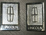 1980and039s And 1990and039s Lincoln Carriage Roof Chrome Emblems - Pair - Free Shipping