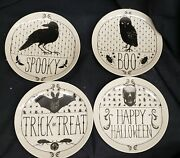 Morgue Sale Halloween Ceramic Plate Set Of 4 Retired 2015 Yet Brand New