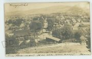 Rppc Aerial View Of Knoxville Pa Covered Bridge Tioga County Real Photo Postcard