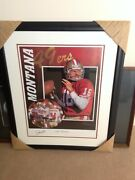 Joe Montana Glory Days Collectible By Tim Cortes - Framed, Signed And Double M
