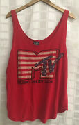 Recycled Karma Sz Xl Mtv Graphic Red Tank Top P