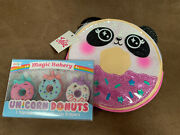 Justice Unicorn Donuts Scented Erasers 3 And Panda Donut Change Purse Super Cute