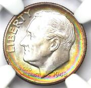 1948-s Roosevelt Dime 10c Rainbow Coin - Ngc Ms68 Star Grade - 1500 Value