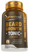 Beard Growth Vitamins Supplement For Men - Thicker Fuller Manlier Hair - Sc...