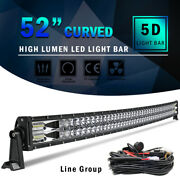 5d 52inch Curved Led Light Bars Combo Offroad Roof Light For Truck Atv 50/54