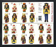 4363b Nutcracker Christmas Complete Booklet Of 20 Mint Nh - Free Shipping