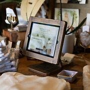All Wood Handmade Countertop Ipad Stand For Businesses Point Of Sale