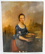 Antique Continental Dutch Italian Old Master Oil Painting Panel Signed As