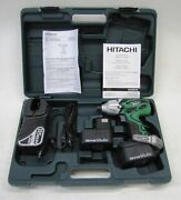 Hitachi Wh14daf2 14.4v Compact Cordless Impact Driver Drill Kit New In Case