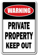 Private Property Keep Out Parking Decal No Trespassing Stay Out