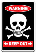 Keep Out With Skull And Crossbones Warning Decal Private Property Kiddoor Room