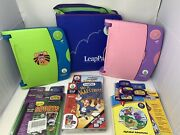 Leappad Learning System Lot With 2 Systems The Binder And 15 Booklets