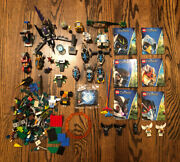 Lego Chima Lot Of Incomplete Sets + Minifigures + Vehicles + Playing Cards