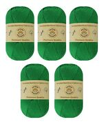 5-pack Set Christmas Green Worsted Bamboo Cotton Yarn Skeins By Yonkey Monkey