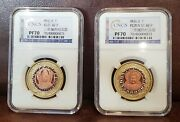 Cncs Pf 70 Chinese Set Of Bi-metal / Medals