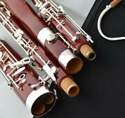 Professional New Maple Wooden Bassoon Silver Plated C Key Heckel System W/case