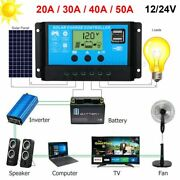 20a-50a Pwm Solar Panel Regulator Charge Controller Auto Focus Tracking 12v/24v