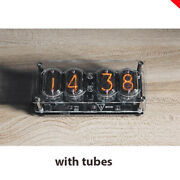 Nixie Clock 4 X In-12 With Tube Assembled 12/24 Format Usa Store Acrylic Case