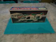 2001 Hess Helicopter With Motorcycle And Cruiser Box Instructions Insert Mint