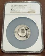 1975 Ngc Ms 65 Diners Club 50 Mm Silver Thou Shall Not Muder Salvador Dali