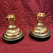 Vintage Jh Brass 5.5 Religious Altar Votive Candle Holders - Pair
